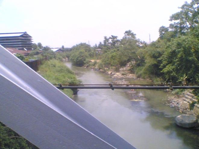 Belawan River, the natural border between Medan city and Deli Serdang district