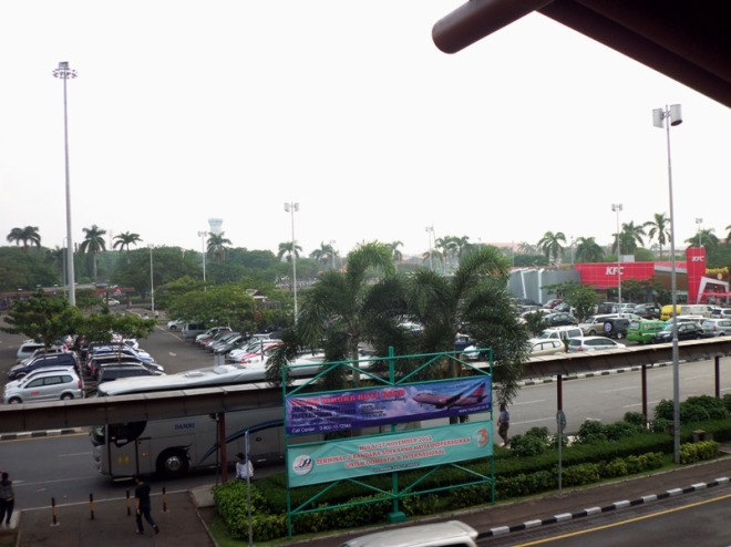 View to the Parking Lot, very hectic