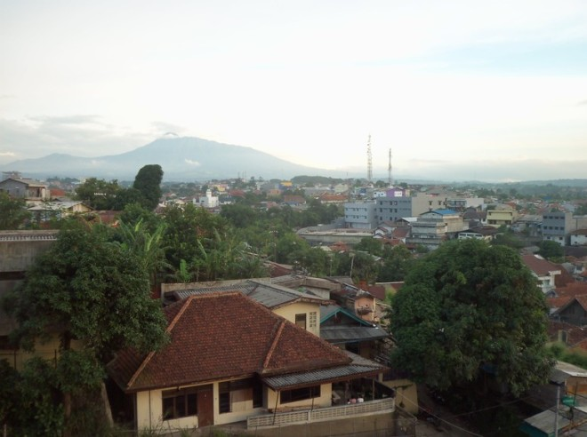South-East view of Bogor city