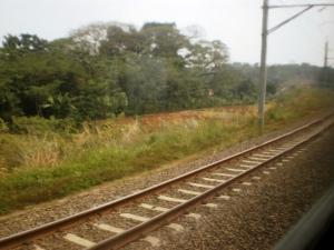 Foto rel KA Serpong - Maja yang sudah double track