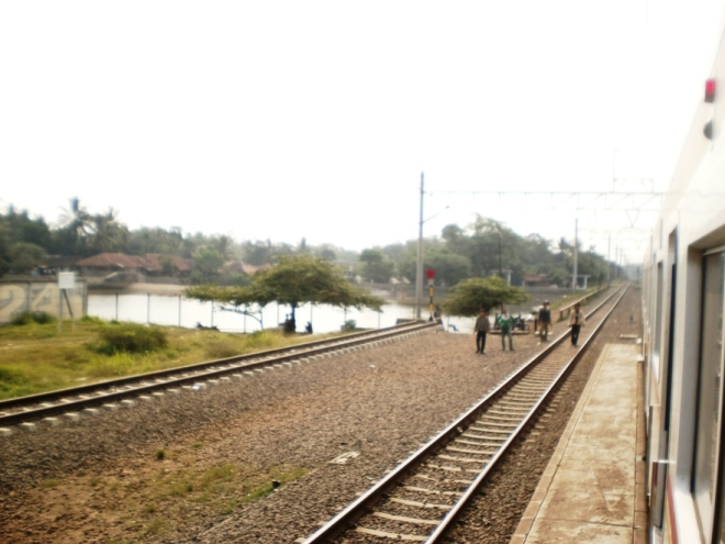 A view from Maja Railway Station