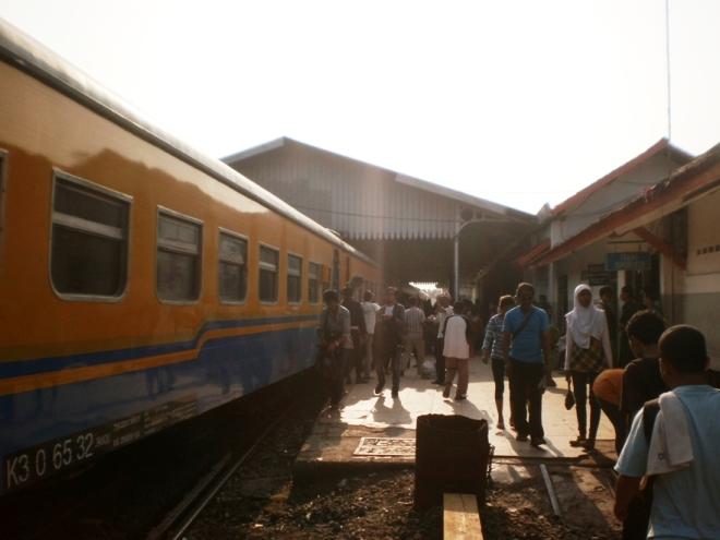 Arrived in Rangkasbitung Station
