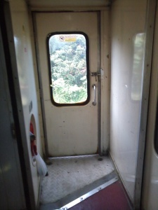 Door between the compartment where I spent the majority of time during my travel capturing scenes :)