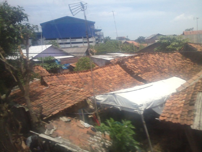 Karawang city - very tightly-coupled houses, typical life in Java Island especially in  rural areas like North Java Coastline (Pantura)