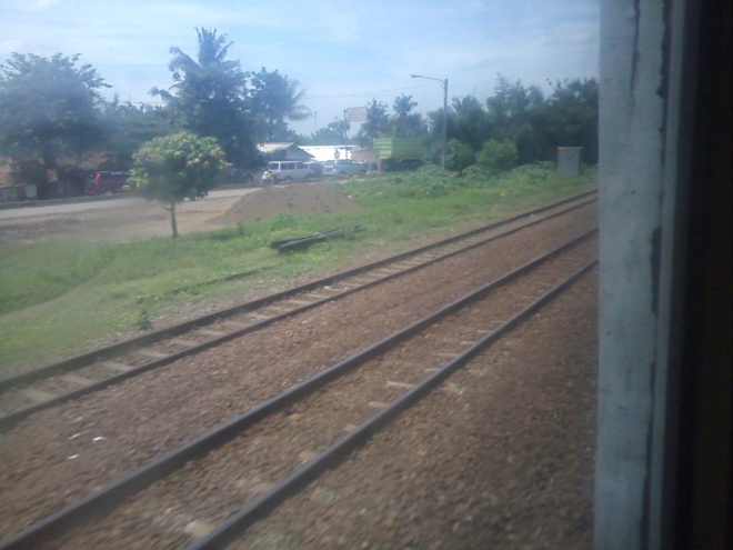 View on the left side of Karawang  - Bekasi railway