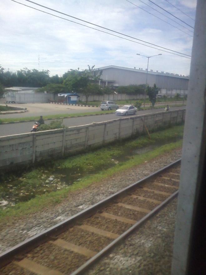 Industries in East Jakarta  area, close to Jakarta - Bekasi border