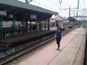 Stasiun Cilebut menghadap ke Utara