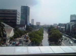 Jalan Juanda / kawasan Pasar Baru - arah Barat menuju daerah Harmoni / Hayam Wuruk / Monas