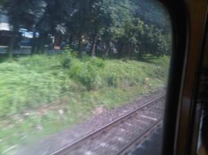Green - kini KRL memasuki wilayah DKI Jakarta meninggalkan Depok
