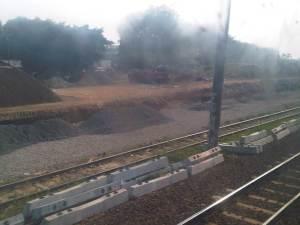 PRoses pengerjaan double-double railway mulai terlihat jelas selepas Jatinegara