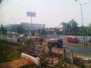 Terlihat di ujung jalan I Gusti Ngurah Rai salah satu perkulakan grosir besar