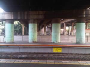 Pilar2 besar yang menyangga JORR Jalan Tol Cakung - Cilincing