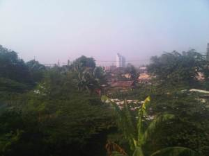 View pemukiman penduduk sekitar Stasiun Manggarai