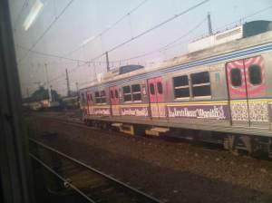 Stasiun Manggarai - terlihat di sisi Barat KRL yang baru datang dari arah Sudirman / Tanah Abang menuju ke Bogor