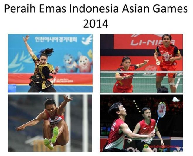 The gold medal winners from Indonesia contingent