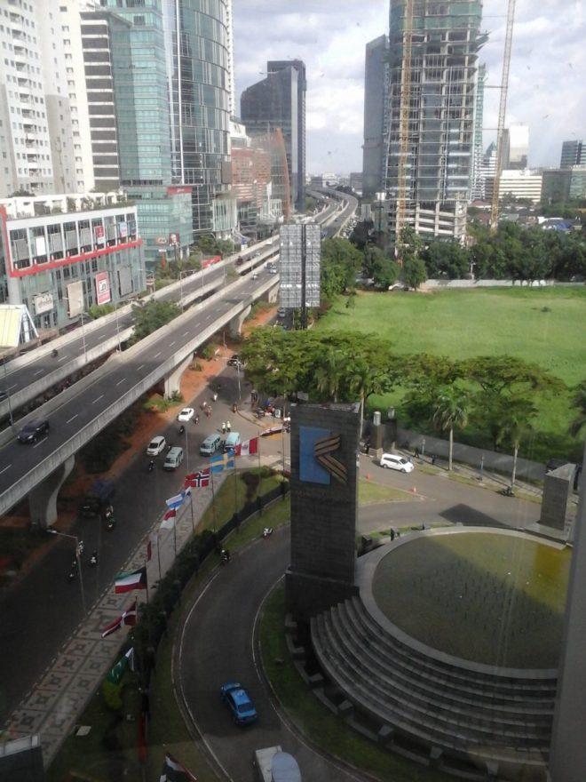 The main entrance to Mega Kuningan CBD -
