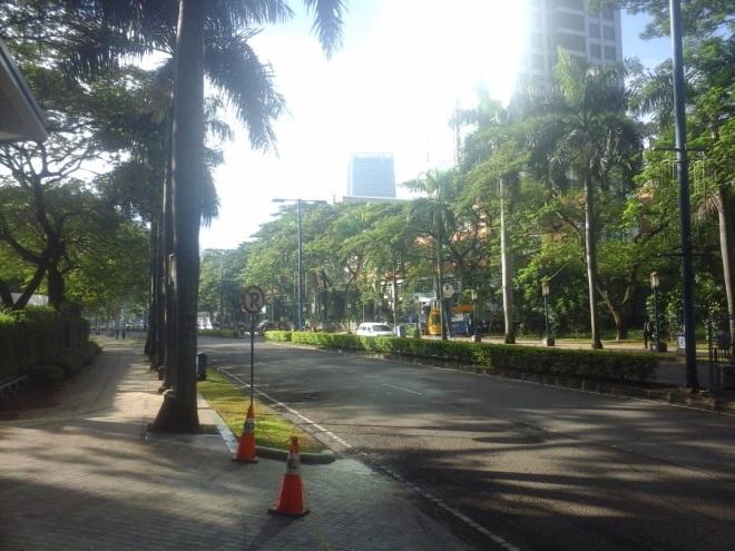 Mega Kuningan boulevard leads to Rasuna Said / Kuningan Street. Most of embassies are around this road